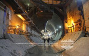 Строительство двухпутного тоннеля метро