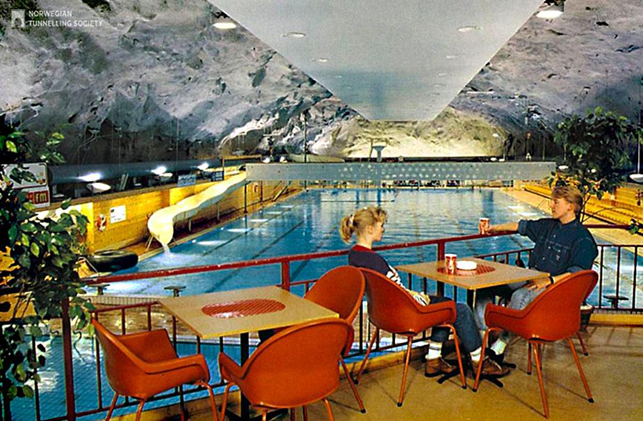 Подземный бассейн в Норвегии