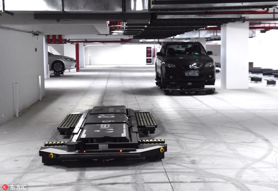 Подземная роботизированная парковка в Нанкине