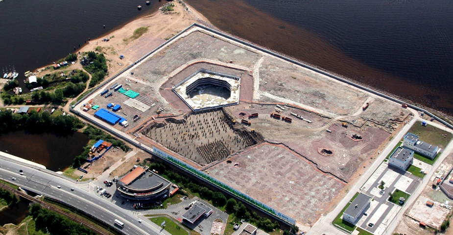 Нулевой этап строительства Лахта Центра