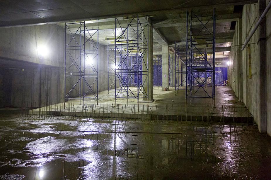 Фото строительства подземного логистического тоннеля март 2016