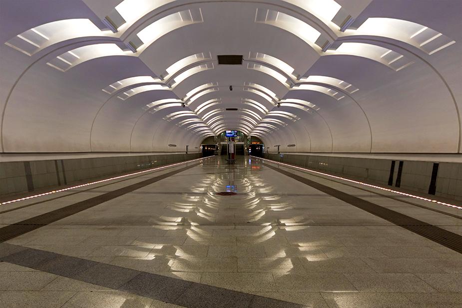 Станция мелкого заложения московского метрополитена «Лесопарковая»