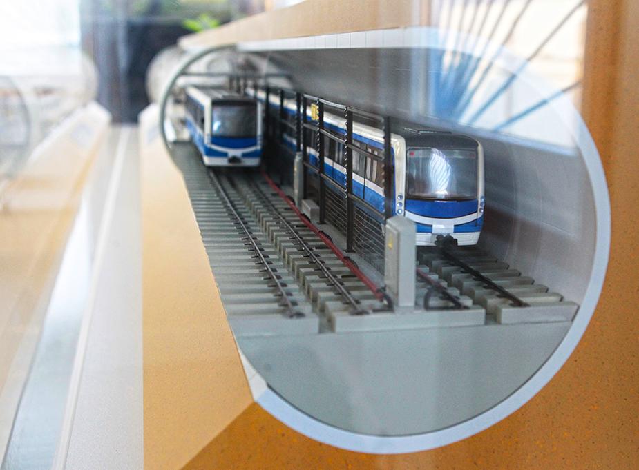 Макет двухпутного тоннеля метро