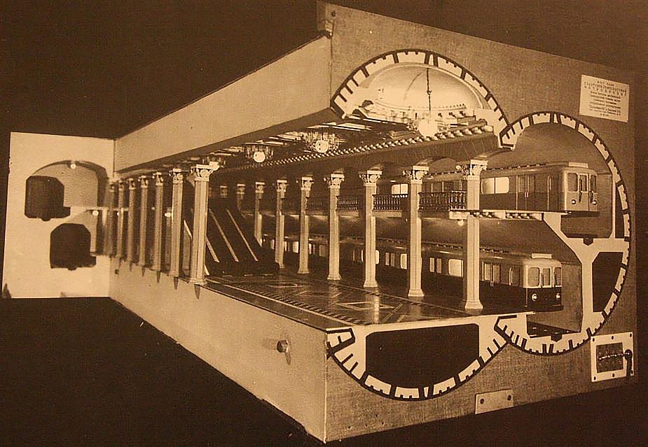Макет станции метро