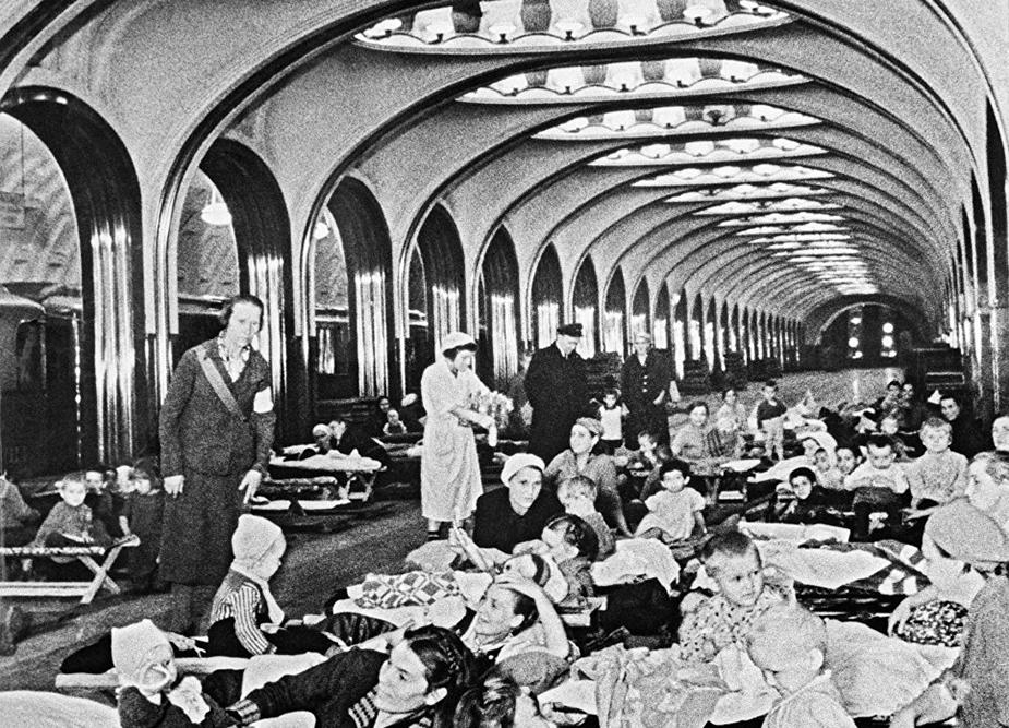 Станция метро «Маяковская», 1942год