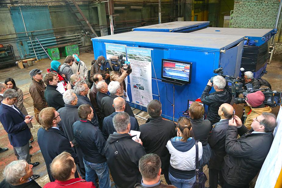 Презентация губернатору грузовой транспортной магнито-левитационной платформы