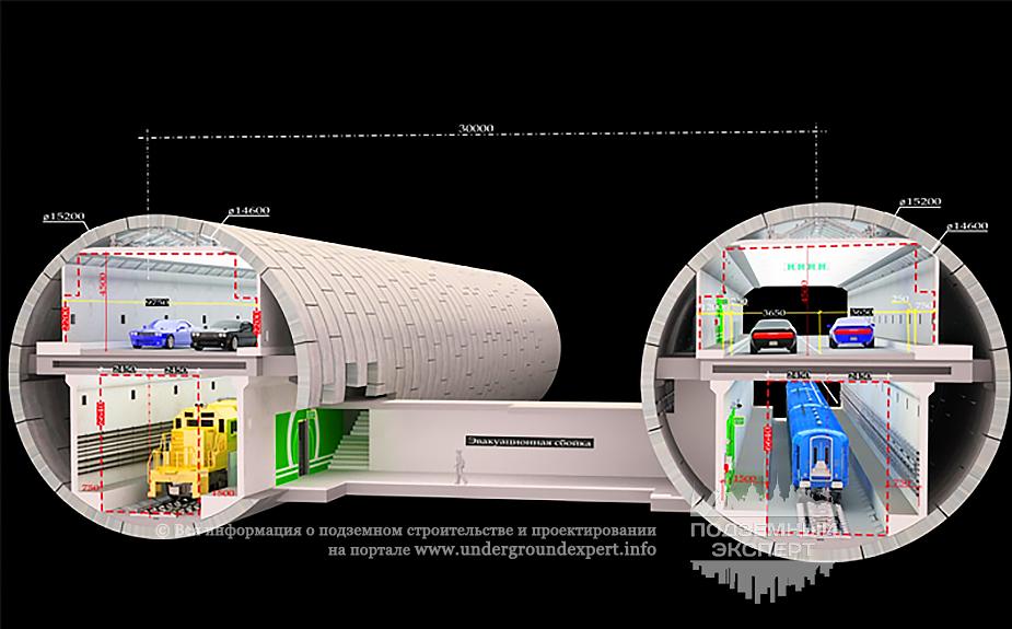 Двухъярусные тоннели - диаметр 15,2