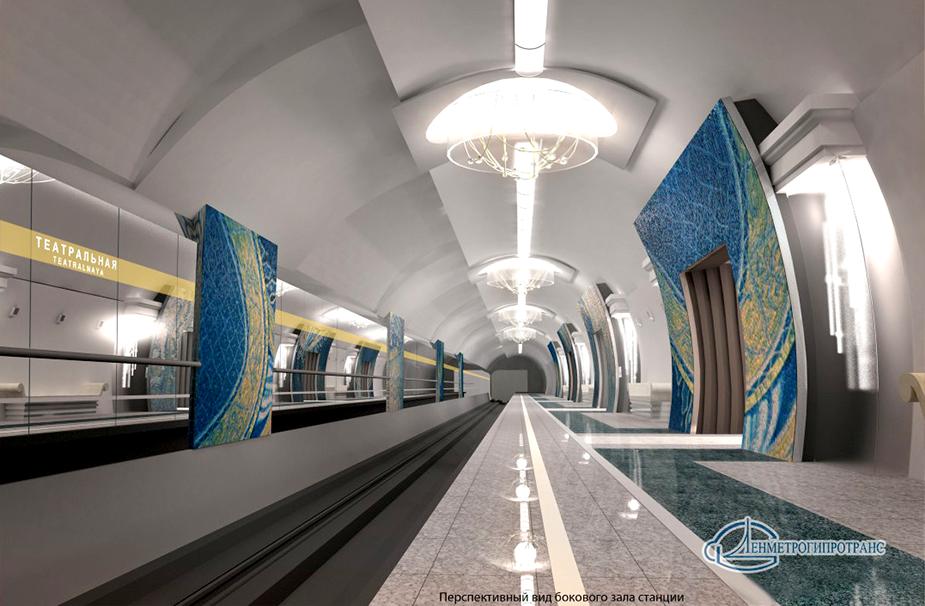 Будущая станция метро «Театральная» в Санкт-Петербурге