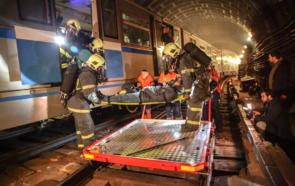Пожарно-тактическое учение в Московском метрополитене