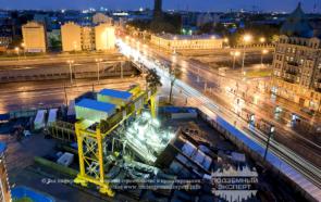 Строительство станции метро Обводный канал в Санкт-Петербурге