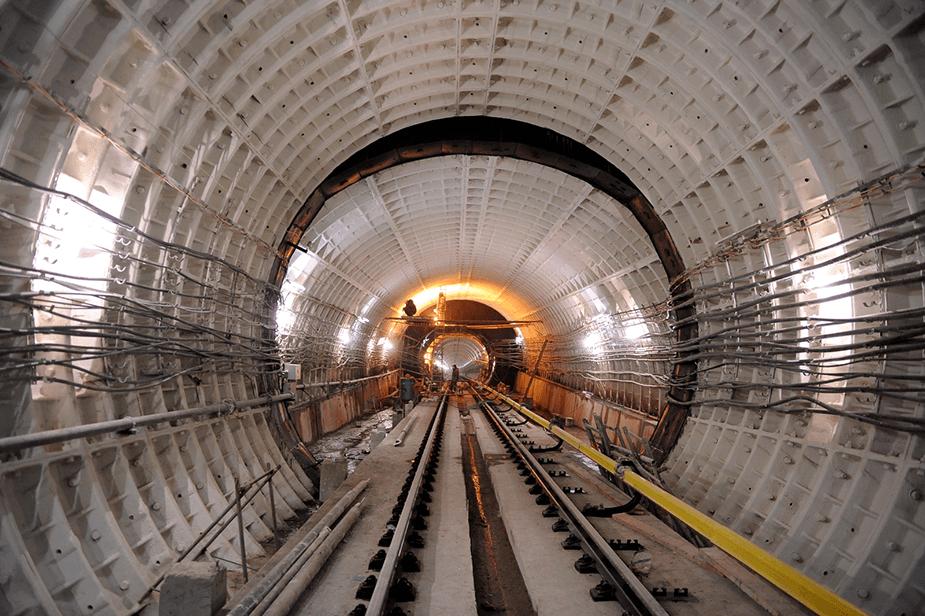 Тоннель кожуховской линии метро