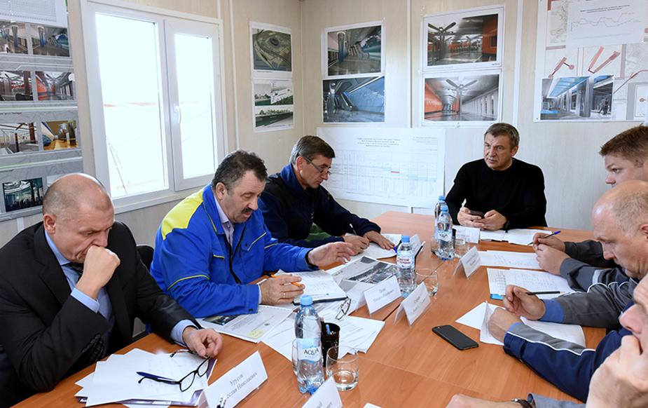 горь Албин проинспектировал ход строительства станций метро «Новокрестовская» и «Беговая (Ул.Савушкина)»