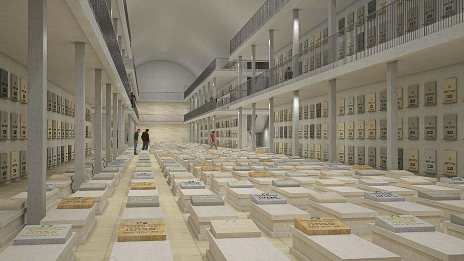 underground cemetery project in Jerusalem