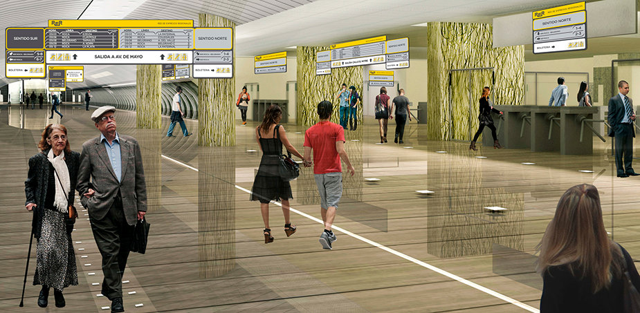 Architectural sketch of the future station