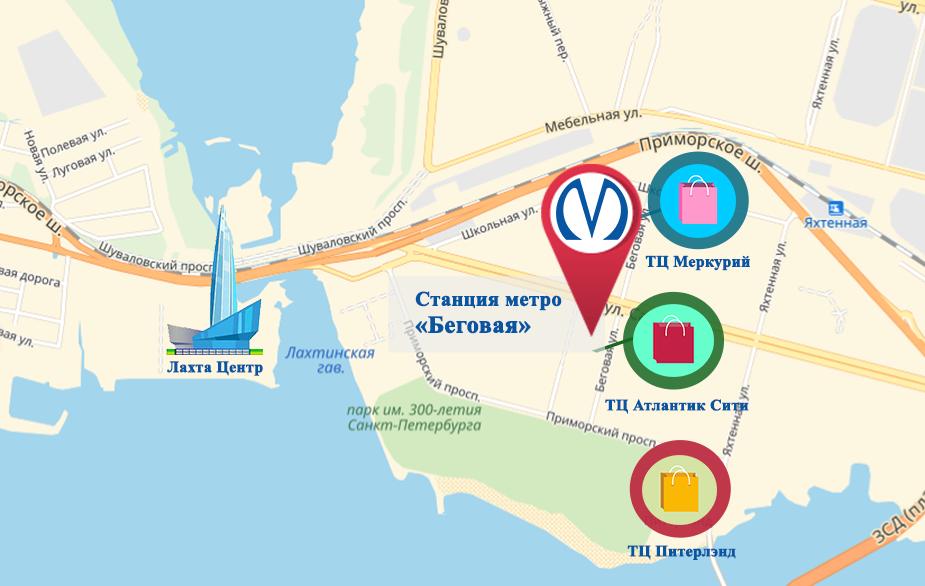 Схема метро беговая