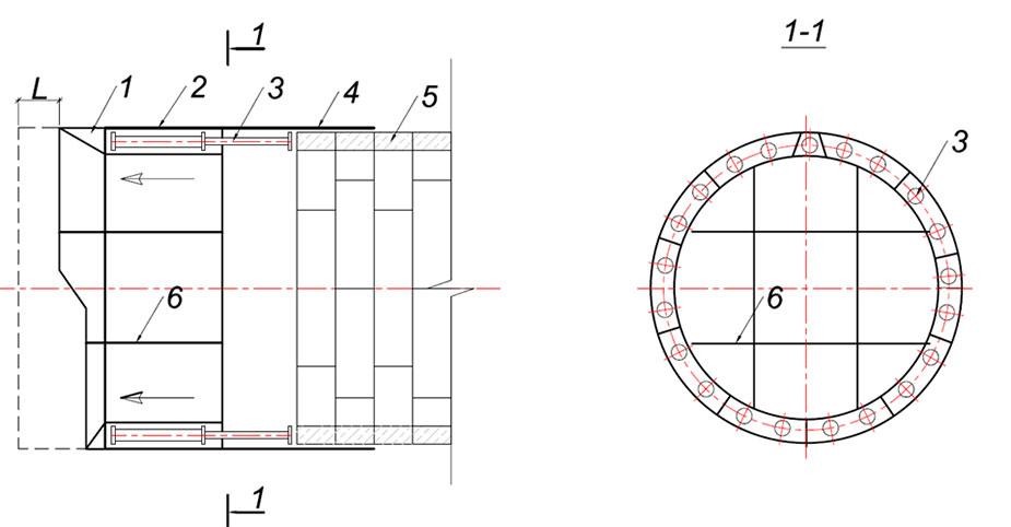 Принципиальная схема немеханизированного щита
