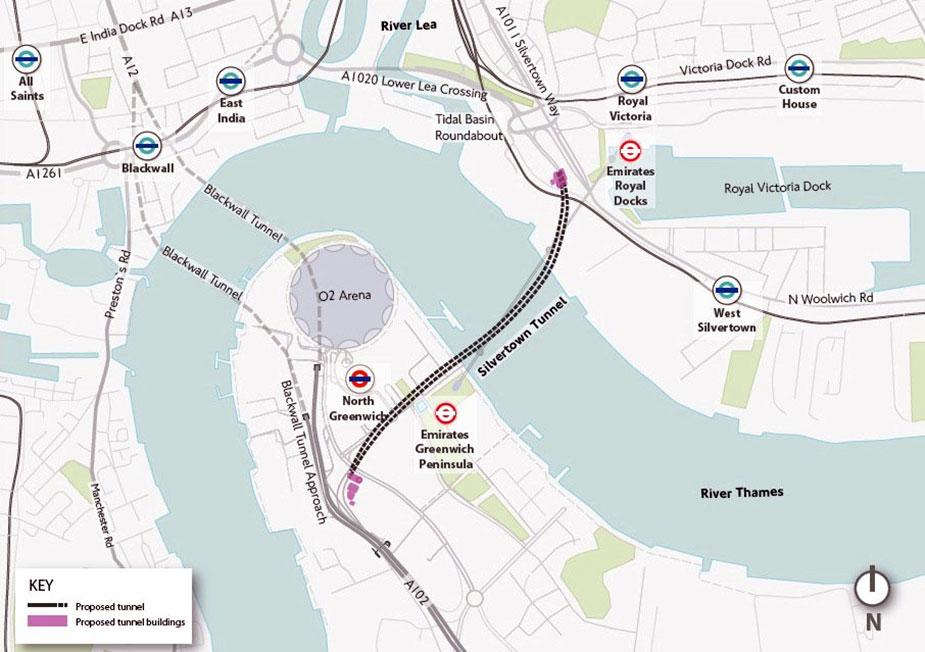 Схема строительства тоннеля под Темзой